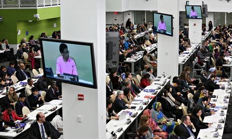 Delegates at UN headquarters