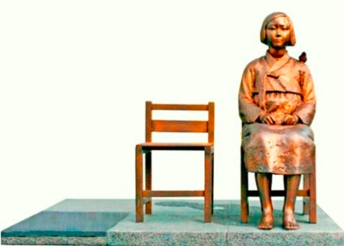 "The controversial so called 'comfort woman"" statue that depicts sexual slavery by Japan inGlendale, California"