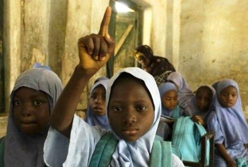 Girls attending school Nigeria