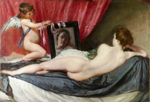 Photoshopped image of paintingby Diego Diego Velázquez