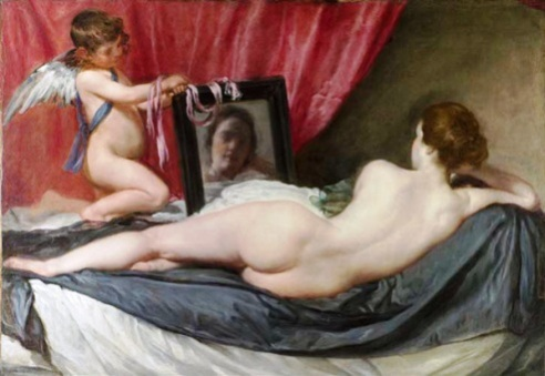 Diego Velázquez nude painting before photoshopping