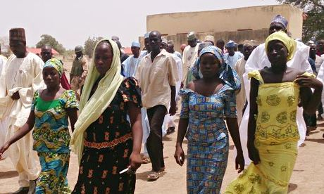 Girl student suvivors in Chibok, Nigeria