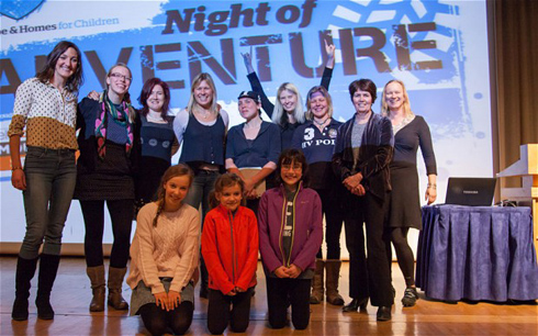 The thrill-seeking women at the Night of Adventure event. Image: Jools Whitehorn