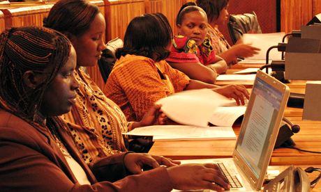 Women of Rwandan parliament