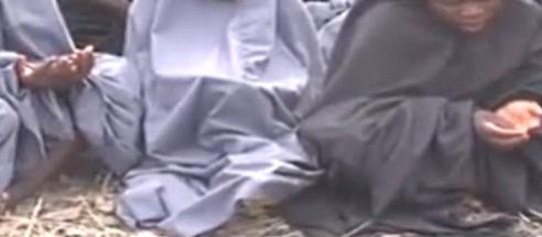 Praying hands of the Chibok school girls