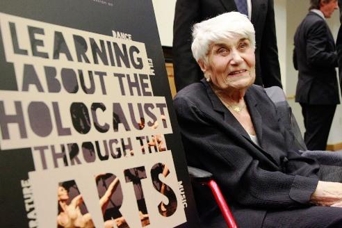 Holocaust survivor at UN