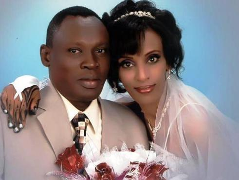 A wedding picture shows Merium Yehya Ibrahim with her husband Daniel Wani. Image: Gabriel Wani/Facebook