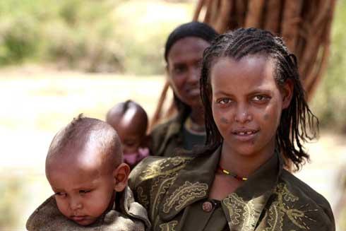 Ethiopia mothers with babies.