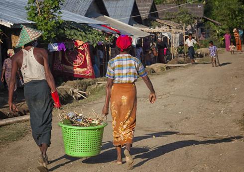Myanmar married couple