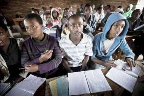 Students at Kigeme refugee camp Rwanda