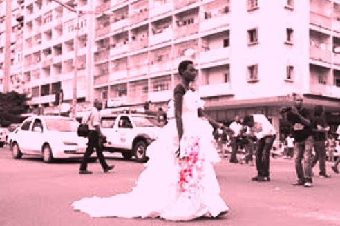Woman protester Mozambique