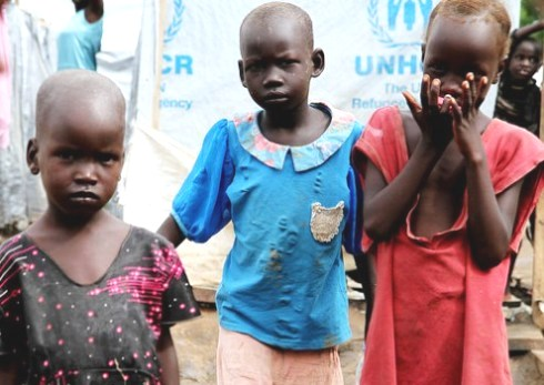 Displaced girls South Sudan