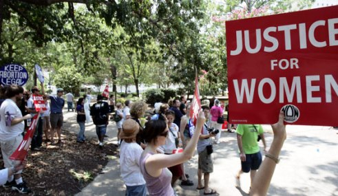 Pro-choice rally in Texas