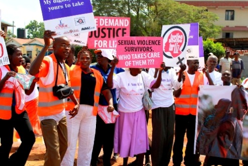 A 'Justice for Liz' rally in Kenya, July 2013