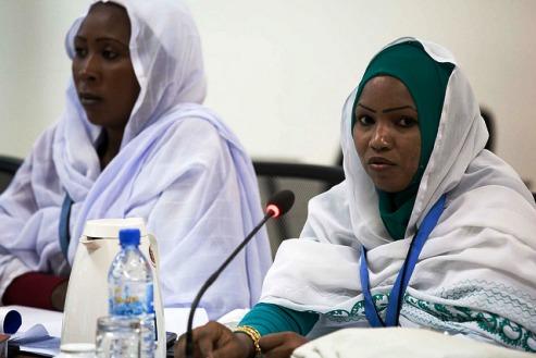 Women speak at the Darfur International Dialogue Consulations