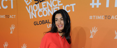 LONDON, ENGLAND - JUNE 12:  Amal Alamuddin, Fiance of Actor George Clooney attends the Global Summit to End Sexual Violence in Conflict at ExCel on June 12, 2014 in London, England. The four-day conference on sexual violence in war is hosted by Foreign Secretary William Hague and UN Special Envoy and actress Angelina Jolie.  Image: Eamonn M. McCormack/Getty Images