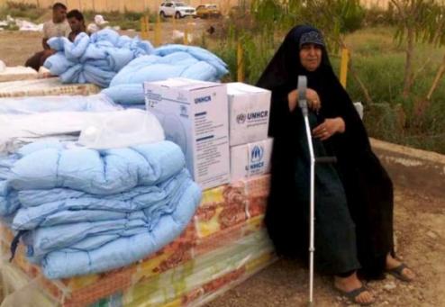 Iraqi displaced woman
