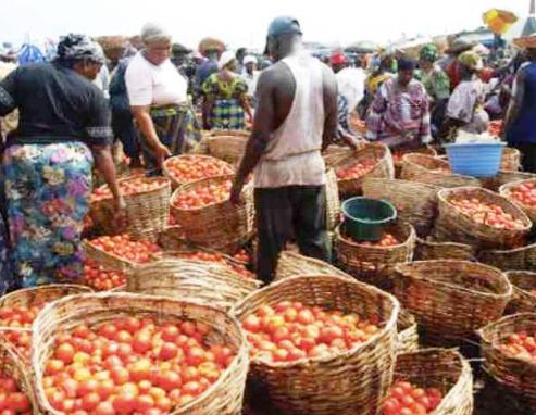 Food market Lagos, Nigeria