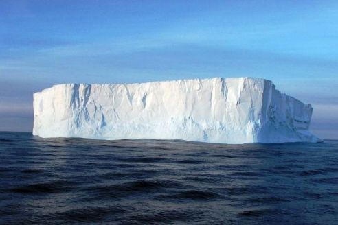 Floating iceberg in the Antarctic