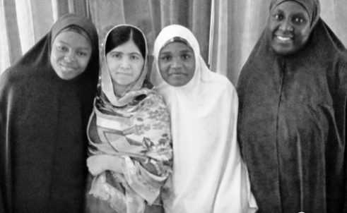 Malala Yousafzai in Abuja with girl students