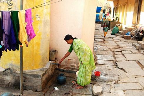 Women doing household chores