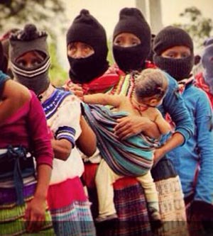 Zapatista women march