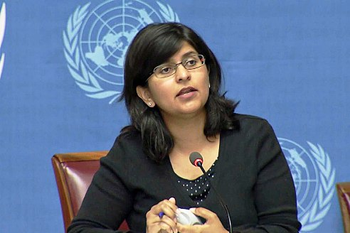 UN OHCHR Spokesperson Ravina Shamsadani