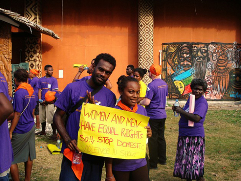 Pacific Islands gender equality protest