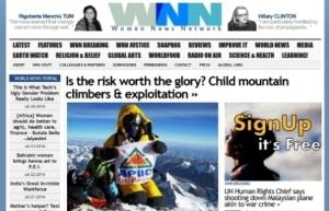 WNN - Women News Network's news site in July 2014