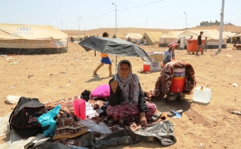 Syrian refugee woman at Kawargosk camp, Northern Iraq
