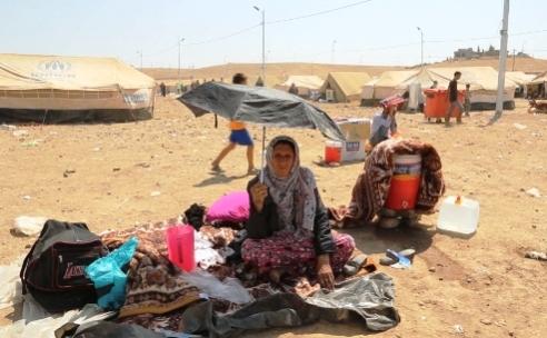 Syrian refugee woman at Kawargosk camp, Northern Iraq