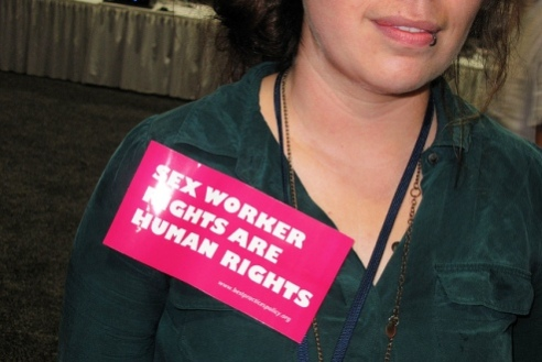 Adult woman sex-worker attends Washington D.C. Conference on AIDS 2012