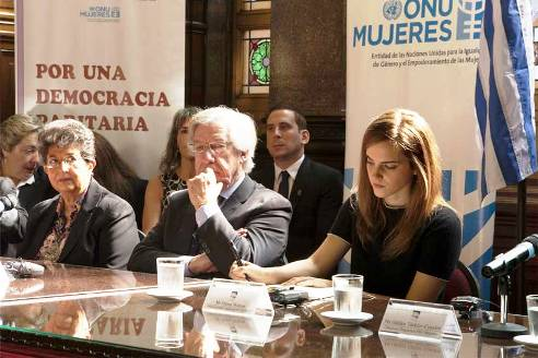 British actor Emma Watson in Uruguay for UN Women