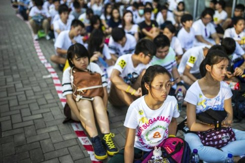 Chinese student pro-democracy protesters