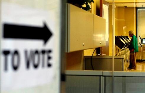 Black woman voter Atlanta, Georgia U.S.