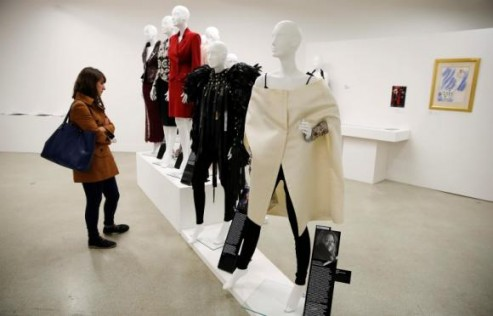 A fashion show of clothing worn by women leaders in London.