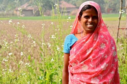 Ms. Kajol Das is a small local farmer.