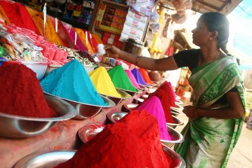 Vegetable market Mysore, India