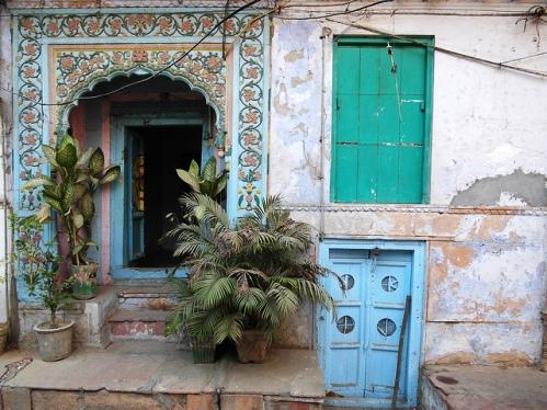 Doorways in Old Delhi, India